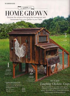 Part of me really would like some chickens. A couple of little bantams with feathery feet and fresh eggs. And *if* that time ever comes, maybe I could find someone to build a cute coop to go with it? :] The Hater's Guide To The Williams-Sonoma Cata