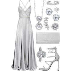 A fashion look from June 2016 featuring ruched evening gowns, elastic strap sandals and glitter handbag. Browse and shop related looks. Dressy Outfits, Stylish Outfits, Cute Outfits, Ball Dresses, Ball Gowns, Elegant Outfit, Women's Summer Fashion, Beautiful Gowns, Dream Dress