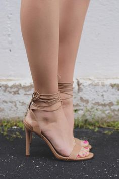 Toe Strap Lace Up Ankle Stiletto Heels Swagger-01