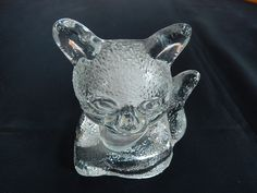 Solid Clear Glass CAT - KITTEN Tea Light Candle Holder * Partylite * | eBay
