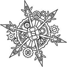 Clockwork Snowflake design (UTH2808) from UrbanThreads.com 01 December 2012