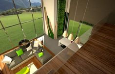 Dołączone zdjęcie stanowiło inspirację do zaprojektowanych wnętrz. Ukazuje ono w jak dalekim stopniu można swobodnie kreować zieleń we wnętrzu. Wysokość wnętrza i duże przeszklenie fasady pozwala na wkomponowanie pięknego widoku […]