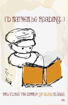 I'd Rather Be Reading #books #illustration