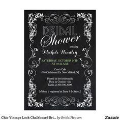 Chic Vintage Look Chalkboard Bridal Shower