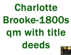 Charlotte Brooke-1800sqm with title deeds http://www.siyasomarket.com/classified/clsId/15426/charlotte_brooke_1800sqm_with_title/