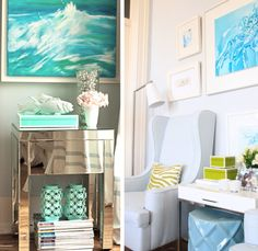turquoise rooms | turquoise room decor style design details blue ideas shabby chic