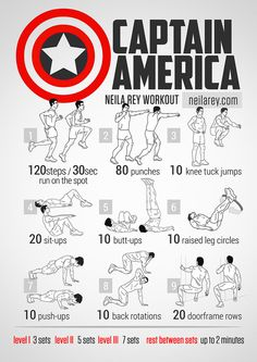 Train Like a Superhero Neila Rey / Captain America Workout Fitness Strong Hero Workouts, Gym Workouts, At Home Workouts, Workout Routines, Workout Posters, Workout Tips, Weight Workouts, Stephen Amell Workout, Captain America Workout