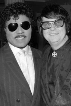 Little Richard and Roy Orbison! two of my music heroes! i have met Little Richard many times.