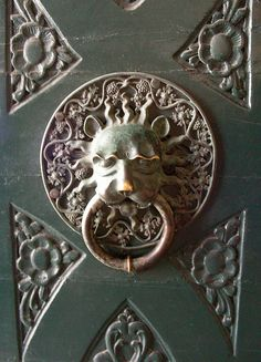 An ornate door handle found in the Old Town of Dubrovnik.