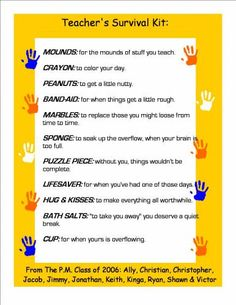 Welcome Back Teachers & Staff Survival Kit | PTO/School | Pinterest | Survival kits, Survival ...