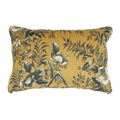 The Vogue cushion velvet poppy mustard and grey from the BePureHome collection is made of a beautiful and rich velvet fabric with a flower print. Throw Pillows, Cushions, Bed Cushions, Cool Beds, Mustard Bedding, Floral Prints, Bed, Bed Pillows, Velvet Cushions