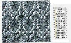 Stricken Another great stitch tutorial with many patterns and charts. In Russian – can… – Stricken Knitting Stiches, Crochet Stitches Patterns, Knitting Charts, Lace Patterns, Stitch Patterns, Knit Stitches, Free Knitting, Knitting Designs, Knitting Tutorials