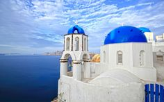 Photo about Church in Oia - Santorini island Greece. Image of culture, greek, cyclades - 19689481 Santorini Island Greece, Santorini Greece, Last Minute Travel, Vacation Club, Taj Mahal, Tourism, Places To Visit, Local Deals, Santorini Wedding