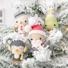 "Weihnachten Christmas Minis set from ""AradiyaToys Minis"" collection / crochet pattern by AradiyaToys (Amigurumi tutorial PDF file) Amigurumi Tutorial, Crochet Amigurumi, Amigurumi Patterns, Crochet Toys, Amigurumi Doll, Crochet Yarn, Christmas Minis, Simple Christmas, Christmas Crafts"