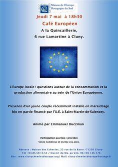 Café européen le 7 mai 2015 à Cluny.