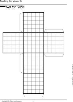 Use this net of a cube to find volume and surface area. Math Teacher, Math Classroom, Teaching Math, Maths, Math Resources, Math Activities, Sixth Grade Math, Math Measurement, Math Intervention