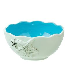 Loving this Ceramic Blue Shell Bowl on #zulily! #zulilyfinds