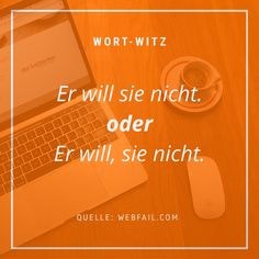 Ein Komma zu viel, eine Beziehung am Ende?  #wort-witz #wortwitz #humor #schreiben #witz #lustiges #texter #kreatives #sprüche #sprache #liebe #beziehung #love #verliebt #streit Humor, Movie Posters, Relationships, In Love, Language, Funny Stuff, Writing, Jokes, Cheer