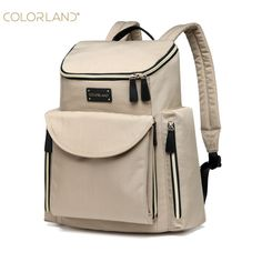 29.78$  Watch more here - http://aiou2.worlditems.win/all/product.php?id=32796301443 - 2017 New COLORLAND Backpack Diaper Bag Baby For Mom Backpack Nappy Mummy Maternity Pail Bag Waterproof Baby Backpacks Diaper Bag