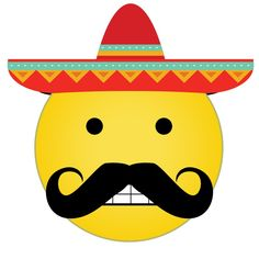 How emoji conquered world Mexican Mustache, Mexican Hat, Smiley Emoji, Mexican Humor, Creative Inventions, Funny Emoji, Mexicans, Funny Pictures, Smileys