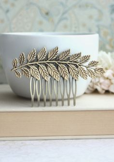 Large Leaf Brass Comb. Greek Leaf Branch Statement Comb. Nature Vintage Inspired. By Marolsha.   https://www.etsy.com/listing/162251873/large-leaf-brass-comb-greek-leaf-branch?ref=shop_home_active_15