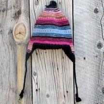 Sweet Stripes Wool Hat Lined