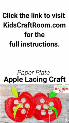 This Paper Plate Apple Lacing Craft is adorable with the cutest worm for kids to thread in and out! A fabulous interactive apple craft and fun way to build fine motor skills. A simple Fall craft for k Paper Plate Art, Paper Plate Crafts, Paper Plates, Paper Crafting, Paper Art, Apple Activities, Craft Activities, Preschool Crafts, Free Preschool