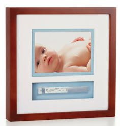 Pearhead Baby Bracelet Frame, Mahogany by Pearhead. $20.22. From the Manufacturer                Celebrate your little one's grand entrance. Now your baby's little hospital ID bracelet can be uniquely displayed and cherished forever. The hand-finished shadow box frame and spaced glasses are designed to give a simple and elegant presentation. Also choose your favorite 4x6 or 5x7 photos to display along with your keepsake.                                    Product Descri...