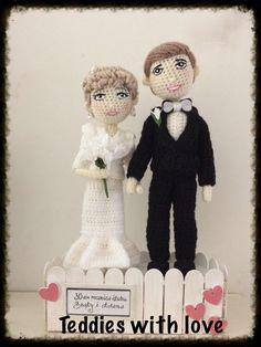 stokrotka: Prezent z okazji 30-tej rocznicy ślubu ./ A gift f... Crochet Toys, Dolls, Hats, Inspiration, Love, Baby Dolls, Biblical Inspiration, Hat, Puppet