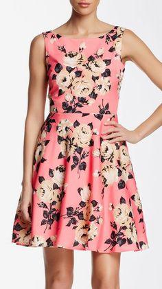 Betsey Johnson | Printed Cutout Back Dress