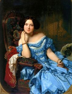 Madrazo, Federico de (b,1815)- Amalia de Llano y Dotres, Countess of Vilches, 1853 -2b