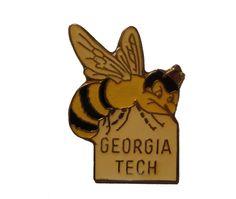 GEORGIA TECH Buzz Bee vintage enamel pin lapel cloisonne Atlanta NCAA