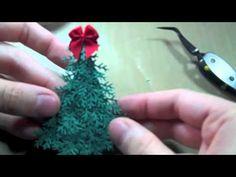 Minature Christmas Tree card embellishment No. 2 Tutorial Part 1