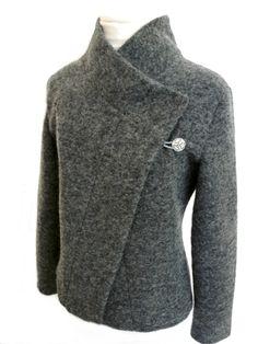 Kurzjacken - Origami Walk Jacke mit Knopf Gr.XS-L - ein Designerstück von Rosenrot-Modedesign bei DaWanda