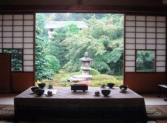 Tea at Unryuin, Kyoto prefecture, Japan