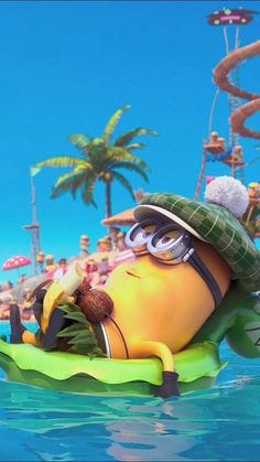 At the beach minion