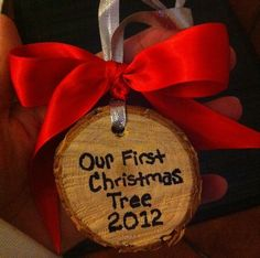 We do this every year! Our favorite ornaments!!