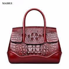 0076a74897a2 MAIHUI women leather handbags high quality shoulder bags 2017 new fashion  crocodile grain real cowhide genuine leather tote bag-in Shoulder Bags from  ...