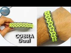 How to make Paracord bracelet Cobra Dual without buckles Easy DIY Paraco. How to make Paracord bra Paracord Bracelet Instructions, Paracord Tutorial, Bracelet Tutorial, Paracord Braids, Paracord Knots, Paracord Bracelets, Homemade Bracelets, Diy Bracelets Easy, Paracord Watch