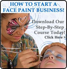 Buy Face Paints, Face Painting Kits & Face Painting Supplies—Face Painting Tips Shop  I could do this.
