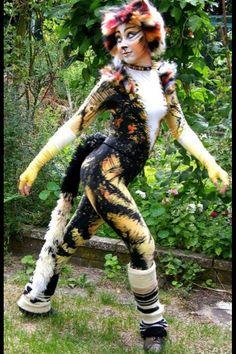 Demeters costume (that's my back garden!)