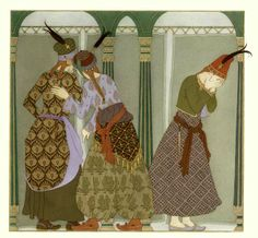 illus Olga Dugina, One Thousand and One Nights, 2009, Floris Books