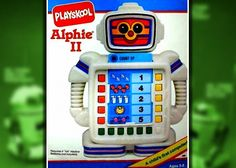 I remember having one as a kid... Playskool Alphie II Robot toy 1980's educational - We have the original one in our kids corner.