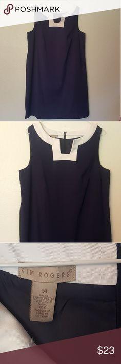 *NEW* Kim Rodgers PLUS Sz 14 Navy Blue Dress *NEW with TAGS* Kim Rodgers Navy Blue Dress  Women's Plus Size 14 Kim Rogers Dresses