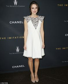 Classy lady: Keira paired her outfit with nude high heels