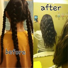 HOW TO: Making your hair wavy with braids! 1.) Braid your hair into multiple Dutch braids (basically backwards braids) 2.) Apply gel and hairspray and leave for ATLEAST 5 hours or overnight 3.) Undo braids and your all done! :)  **better when hair is slightly damp**