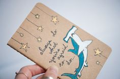"""A nice motto for a notebook: """"Always Do What You're Afraid To Do ..."""""""