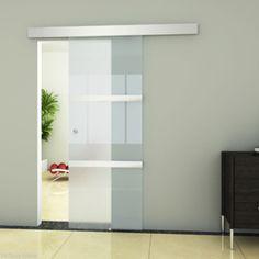 Modern Internal Glass Interior Sliding Door Aluminium Satined Indoor Living Room