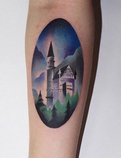 Ann Lilya castle tattoo