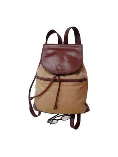 FRENCH leather small RUCKSACK // 90 's BACKPACK // by jolimome, $59.00 10.6x2.7x12.2